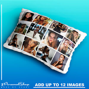 Personalised Photo Pillowcase Cushion Pillow Case Cover Custom Children Up to 12