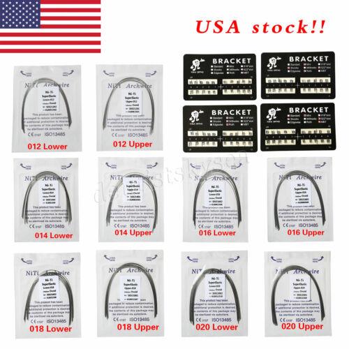 10pack Dental Arch Wire Niti Round U/l /metal Brackets Braces Mbt/roth 345/3hook