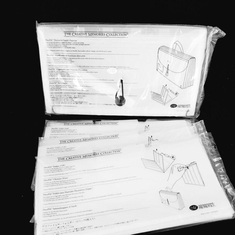 Creative Memories DecoFile Decorative Supply Organizer with 3 Packs Folders )(18