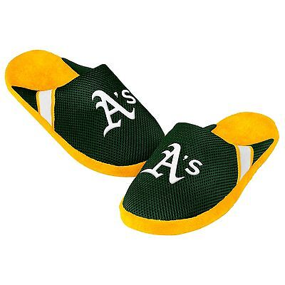 Oakland A's Athletics Jersey Mesh SLIDE SLIPPERS New - FREE SHIPPING - MLB Athletic Mesh Slippers