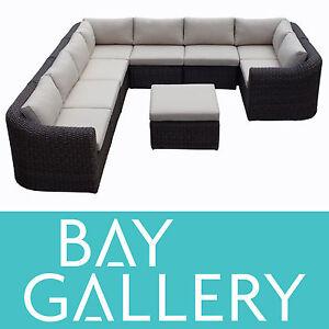 New-Outdoor-Wicker-Modular-Lounge-Sofa-Couch-Rattan-Garden-Furniture-Setting-set