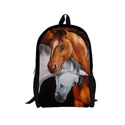 "Cool Horse 17"" Backpack School Bag Satchel Rucksack Book Bag"