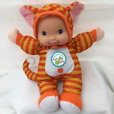 Sing & Learn Orange Cat Talking ABC 123 Doll Goldberger Plush 11""