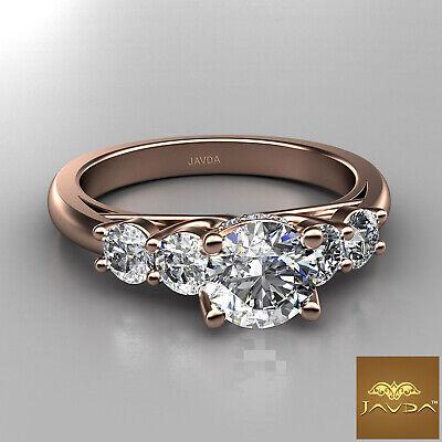 5 Stone Trellis Setting Round Diamond Engagement Prong Ring GIA F Color SI1 1Ct  9
