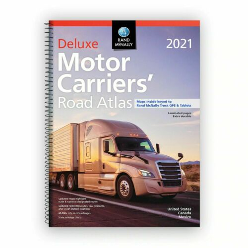 2Rand McNally 2021 Deluxe Motor Carriers Truckers Road Atlas Spiral/Laminated