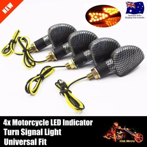 Mini LED Indicators Motorcycle Motorbike LED Blinkers Honda Suzuki Yamaha KTM