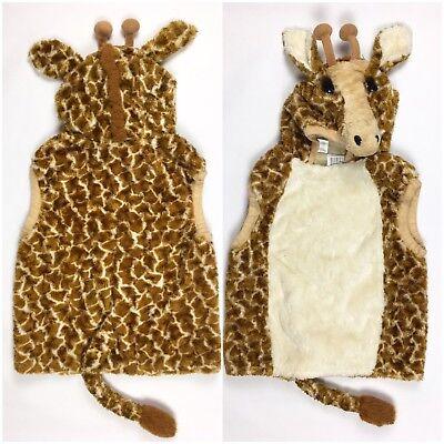 Giraffe Costume Kids Large 7 8 9 Halloween Dress Up Plush Hooded PB1 ()