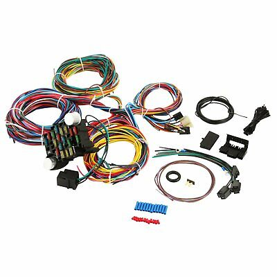Universal Extra long Wires 21 Circuit Wiring Harness Hotrod For Chevy Mopar Ford (Chevrolet Wiring)