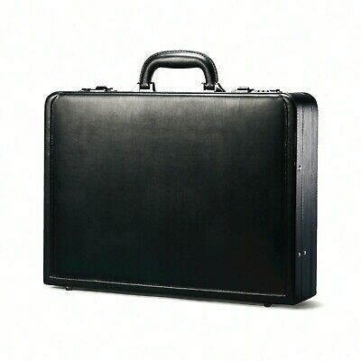 Samsonite SML431151041 Bonded Leather Attache Briefcase - Black