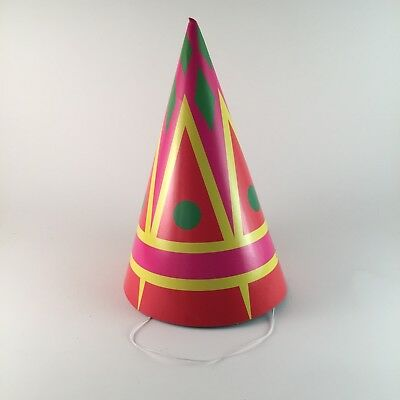 10 Party hats abstract pattern paper cone birthday party hat - Paper Cone Pattern