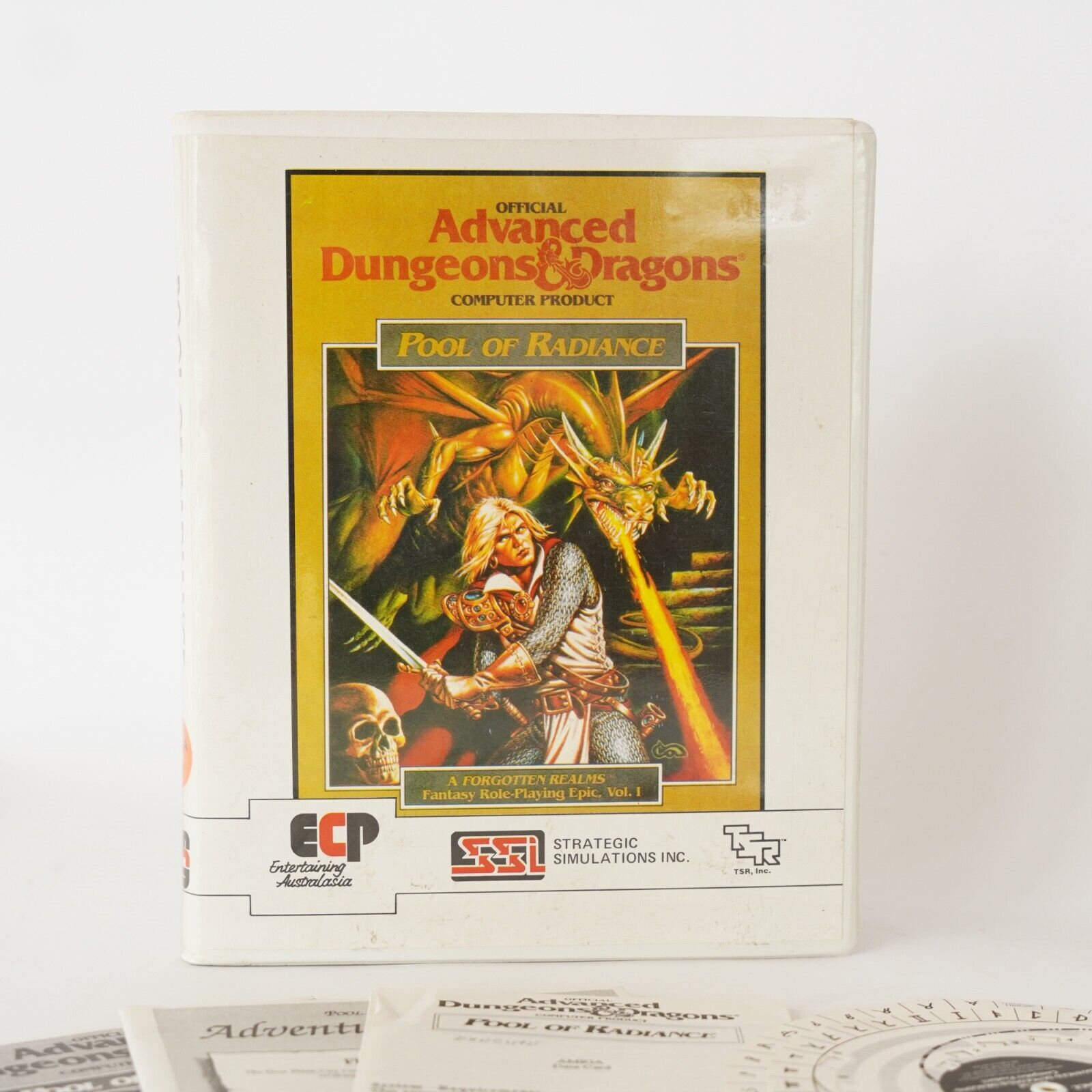 Computer Games - Advanced Dungeons and Dragons Pool of Radiance  Computer Game 1980's COMPLETE