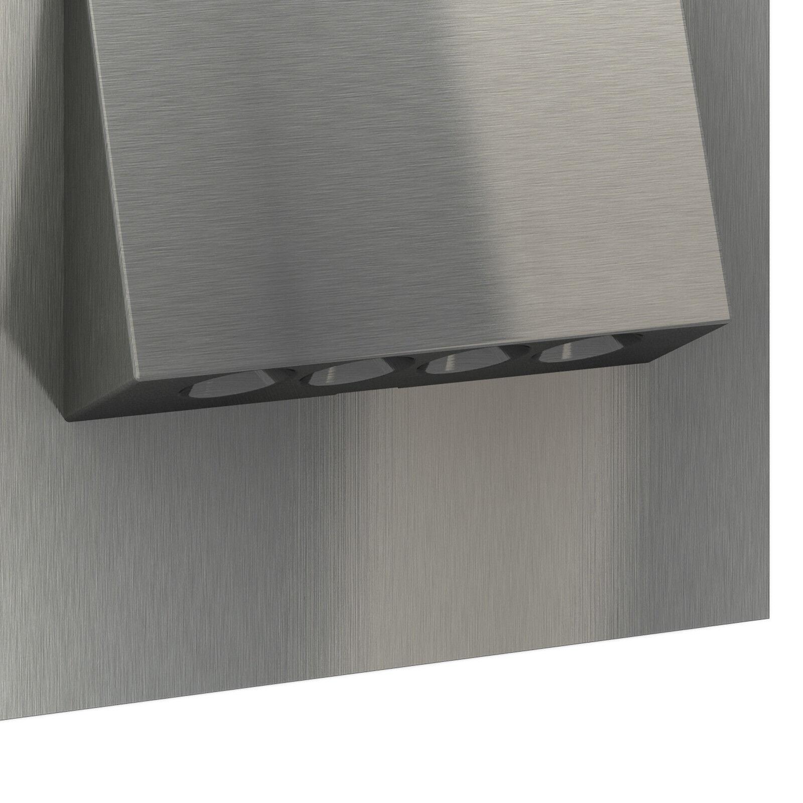 led wandleuchte edelstahl 230v einbau stufen treppen beleuchtung 1 30x teramo eur 38 67. Black Bedroom Furniture Sets. Home Design Ideas