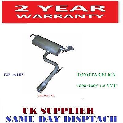 TOYOTA CELICA 140 BHP 1.8 VVTi  1999-2005 REAR BACK EXHAUST SILENCER BOX - NEW
