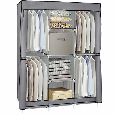 Closet Wardrobe Clothes Rack Storage Organizer With Shelf