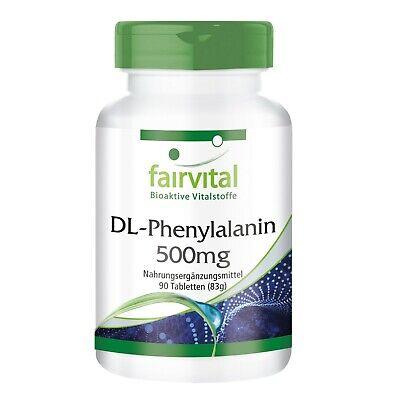 Stimmung Unterstützen (DL-Phenylalanin 500mg - 90 Tabletten, essentielle Aminosäure | VEGAN | fairvital)