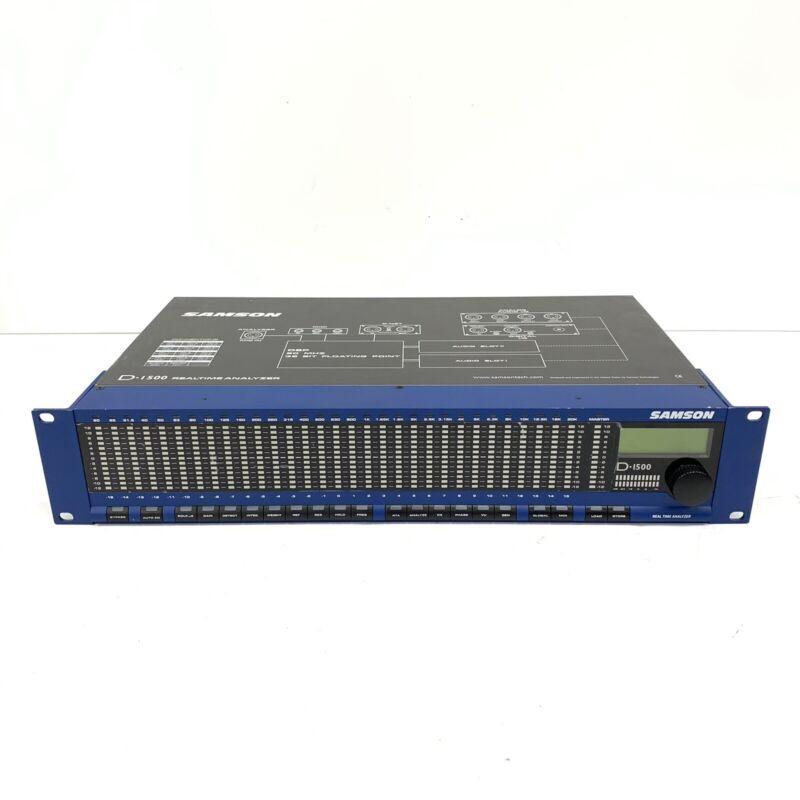 Samson D-1500 Digital Real Time Analyzer Acoustic Audio 31 Band RTA Rack Mount