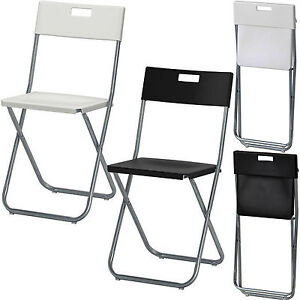 Ikea folding chair camping garden home rest office back - Chaise pliante solide ...