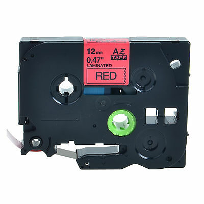 Black On Red Label Tape Tz431 Tze431 For Brother P-touch 0.47 12 12mm - 1pk