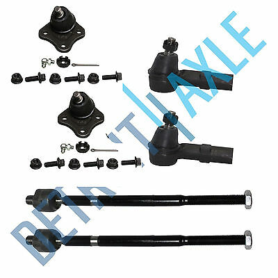 New ALL (4) Tie Rod Ends + Both (2) Lower Ball Joints For VW Golf Beetle Jetta