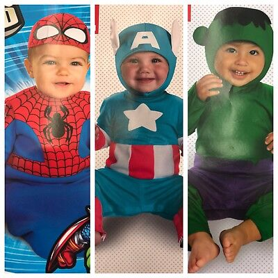 Marvel Baby Infant Costume Spider-man or Hulk - Spider Baby Costume