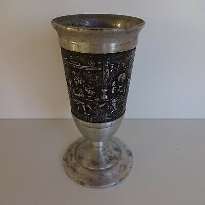 Mug Pewter Tin Cup Chalice Approx. 12 CM