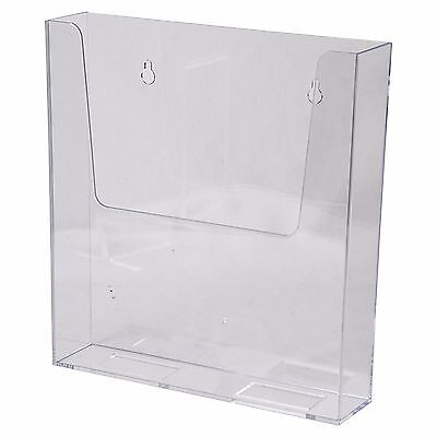Wall Mount Sign Brochure Holder 8.5x11 Clear Plastic Top Quality Azm Display