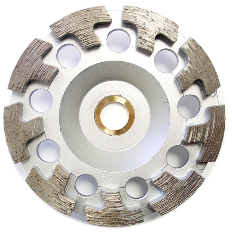 "4.5"" Premium Diamond Cup Wheel T-segment Grinding Concrete Stone 7/8""-5/8"" Arbor"