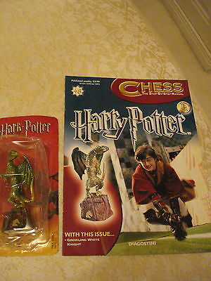 BN HARRY POTTER CHESS MAGAZINE NO.48 WITH THE GROWLING WHITE KNIGHT