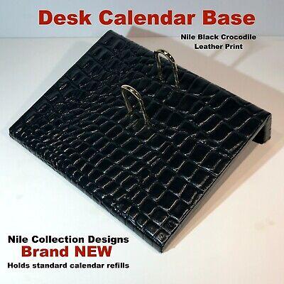 Desk Calendar Base Nile Crocodile Collection Designs Brand New