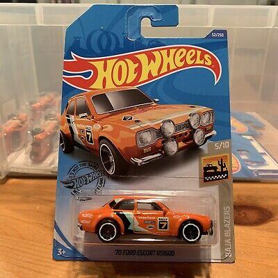 Mattel Hot Wheels Baja Blazers Orange '70 Ford Escort RS1600 - US Long Card 2019