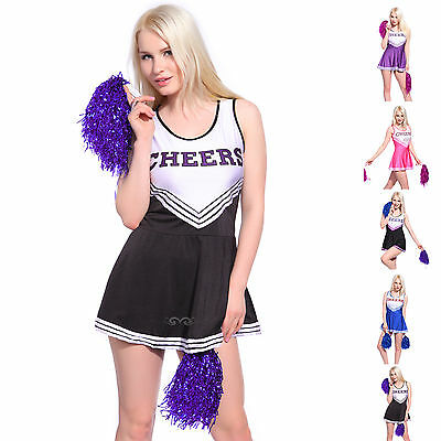 Cheerleader Damen Kostüm Uniform Cheerleading Cheer Leader Fasching Karneval 2XL