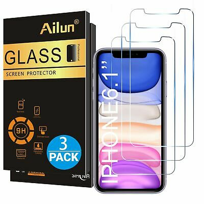 3 New Boxed (3 Cnt each) Ailun Glass Screen Protector for iPhone 11/iPhone XR