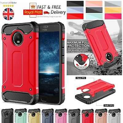 Motorola Moto C [2017] Case - Heavy Duty Shockproof Rugged Bumper Hybrid Armor