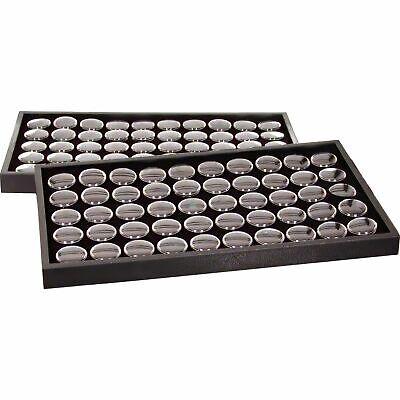 100 Black Foam Gem Jars 2 Travel Display Trays