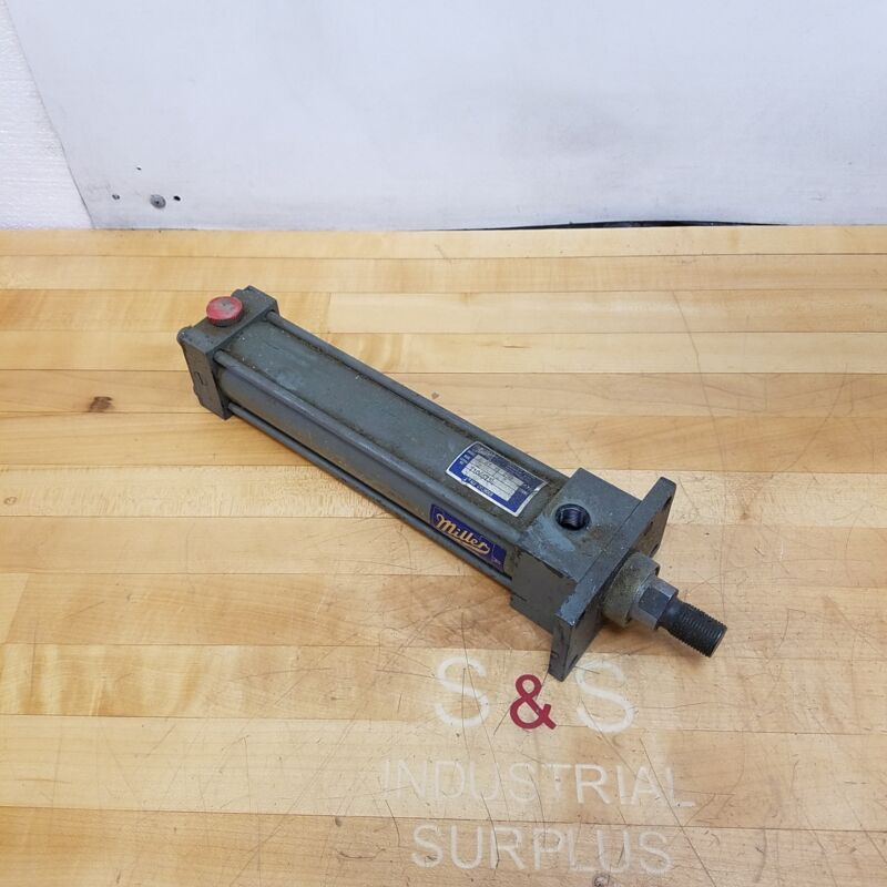 """Miller A 61 R Pneumatic Cylinder, 250 PSI, 2"""" Bore, 8"""" Stroke - USED"""