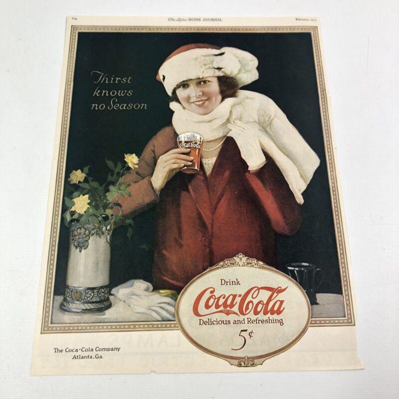 Vintage 1923 Ladies Home Journal Coca Cola General Electric Magazine Print Ad