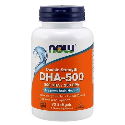 NOW Foods DHA Double Strength, 500 mg, 90 Softgels