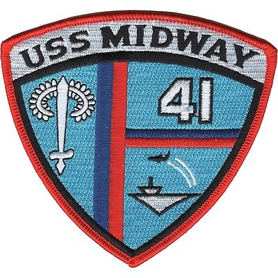 United States Navy CV-41 USS Midway Military Patch Aircraft Carrier