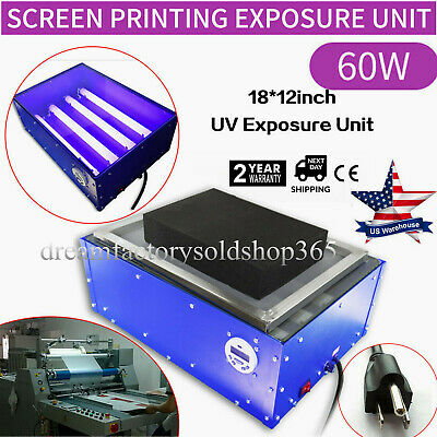Exposure Unit 18 X 12 Screen Printing Machine Silk Screen Uv Light Plate Maker