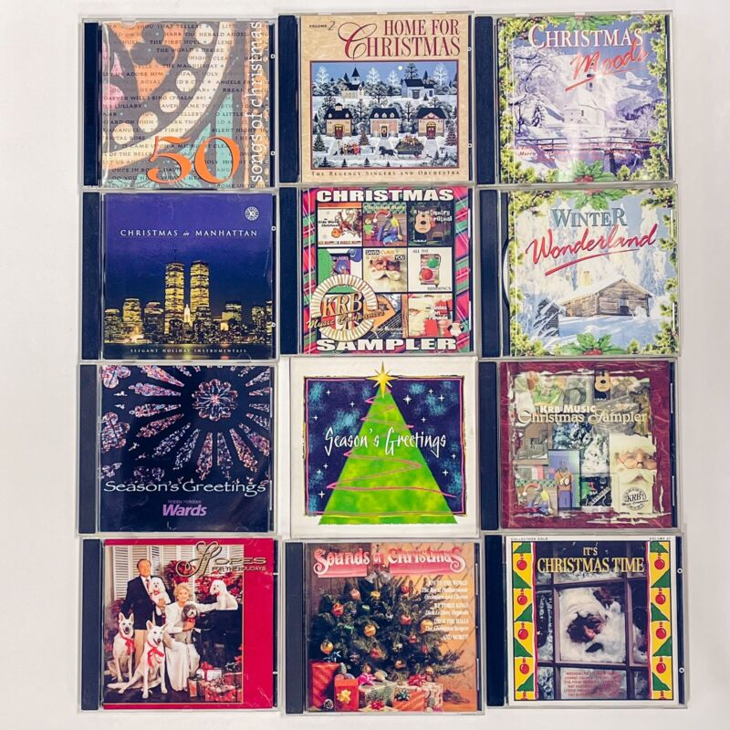 12 Christmas CD Lot Variety Instrumental, Orchestra, Classical
