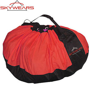 PARAGLIDING QUICK BAG, FAST PACK BAG, PARAMOTOR QUICK BAG BLACK/RED