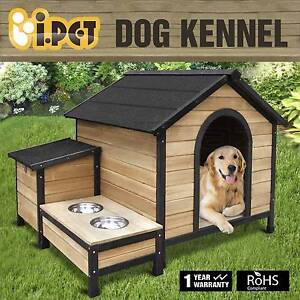 Extra Large Pet Dog Timber House Wooden Kennel Wood + 2 Bowls Adelaide CBD Adelaide City Preview