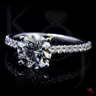 Classic 1.50 Ct. Round Cut Natural Diamond Engagement Ring F VS1 GIA 14k  2