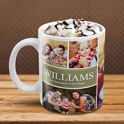 Custom Photo Collage Mug Create a Personalized Gift with Your Own Photos  - Personalize Mug