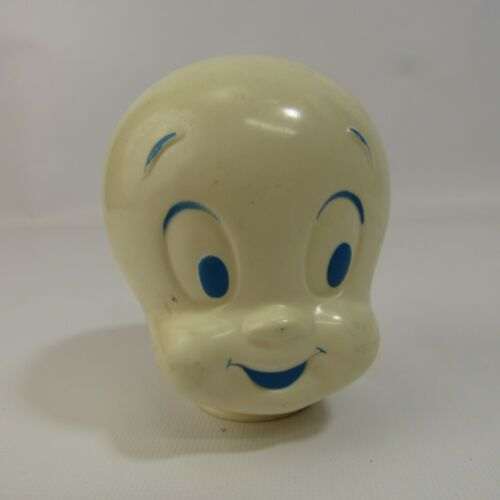 "Vintage Casper the Friendly Ghost Plastic Head 3.25"" White"