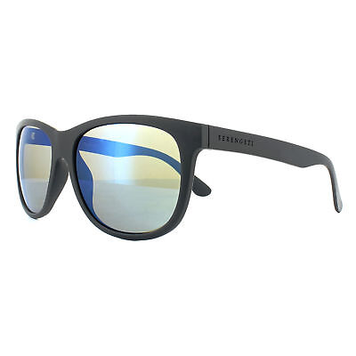 e0ae5a40f0 Serengeti Sunglasses Ostuni 8362 Sanded Dark Grey 555nm Blue Mirror  Polarized
