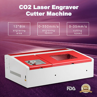 Suncoo Co2 Laser Engraver Cutter Commercial Engraving Cutting Machine 40w Usb