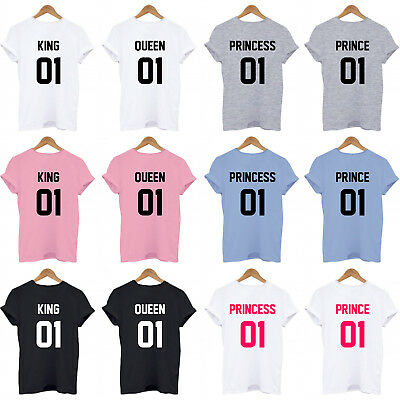 King 01, Queen 01, Prince 01, Princess 01, On Back Family Matching Set T-Shirt
