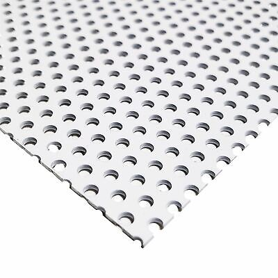 White Painted Aluminum Perforated Sheet 0.040 X 24 X 36 18 Holes