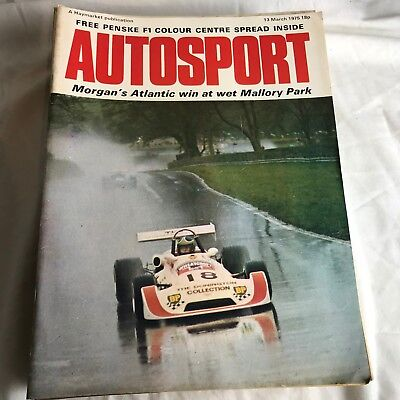 VINTAGE AUTOSPORT MAGAZINE MAG MARCH 1975 F1 RACING CARS